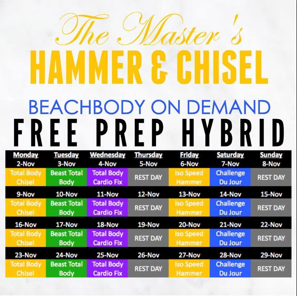 Hammer & Chisel Beachbody On Demand Prep Hybrid